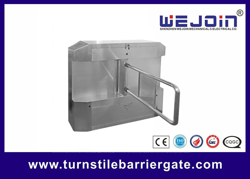 Acrylic plate Arm Turnstile Entry Swing Barrier Gate Systems With Dry Contact Interface fournisseur